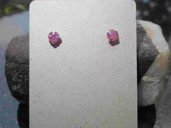 Raw Tanzanite Ring Size 6 Set in 925 Sterling Silver Purple Crystal Stacking Rin