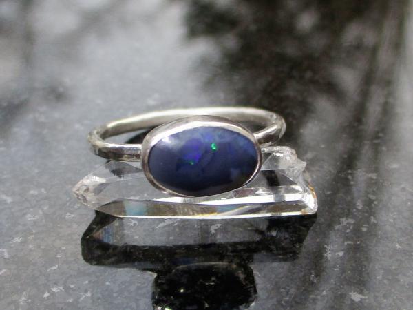 Handmade Raw Amethyst Sterling Silver Ring Size 6 Febrary Birthstone Crystal Jew