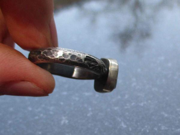 Raw Opal Stud Earrings in Sterling Silver Small 5mm Stone October Birthstone Min