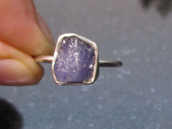 Tanzanite Sterling Silver Stud Earrings with 4 Prong Setting Purple Gemstone Stu