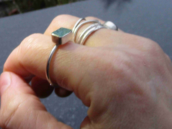 Raw Ruby Ring Size 6 Handmade Sterling Silver Crystal Stacking Ring July Birthst