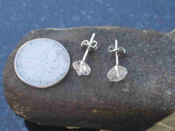 Handmade Moonstone Silver Ring Size 8 Crystal Stacking Ring for Women in 925 Ste