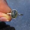 Raw Opal Ring in Sterling Silver Size 8 Blue Black Fire Opal