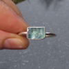 Rainbow Moonstone Necklace in Sterling Silver with Circle Pendant and Teardrop S