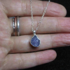 Handmade Raw Amethyst Crystal Necklace Pendant Sterling Silver February Birthsto