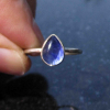 Raw Opal Sterling Silver Ring in Size 8 Geometric Gemstone Ring