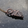 Druzy Oregon Quartz Copper Pendant Necklace Raw Stone Crystal Electroformed Jewe