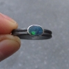 Raw Australian Opal Ring Size 7 925 Sterling Silver Crystal Stacking Ringl Octob