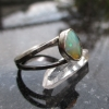 Handmade Opal Silver Ring Size 8 Split Band Natural Ethiopian Welo Opal Gemstone