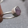 Raw Amethyst Ring Size 6 Sterling Silver Crystal Stacking Ring Purple Gemstone F