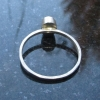 Raw Opal Silver Stacking Ring Size 6 Natural Ethiopian Welo Opal Gemstone Octobe