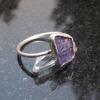 Grape Agate Titanium Earrings Crystal Studs Purple Stone Gemstone Jewelry Chalce