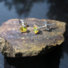Raw Amethyst Silver Ring Size 8  Purple Crystal Mini Point Stacking Ring in Ster