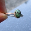 Turquoise Sterling Silver Stacking Ring in Size 6 December Birthstone Handmade G