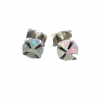 5mm Opal Stud Earrings in Sterling Silver with 4 Prong Setting Small Stone Minim