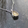 Raw Ruby Necklace in 925 Sterling Silver July Birthstone Red Crystal Gemstone Pe