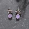 Handmade Natural Opal Crystal Necklace Set in Sterling Silver October Birthstone