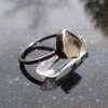 Size 6 Handmade Raw Oregon Sunstone Sterling Silver Ring with Natural Crystal an