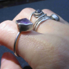Raw Amethyst Ring Size 7 925 Sterling Silver Crystal Stacking Ring February Birt