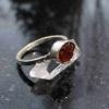 Oregon Red Opal Stud Earrings in Sterling Silver Small Tiny Dainty Minimalist Je