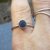 Holley Blue Agate Silver Stacking Ring Size 7 Holly Blue Agate Purple Stone Natu