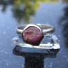 Oregon Sunstone Ring Size 7 Raw Stone Crystal Sterling Silver Stackable Gemstone