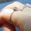 Raw Opal Stud Earrings in Sterling Silver with 4 Prong Setting 4mm Small Stone M