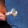 Oregon Obsidian Gemstone Studs with Hypoallergenic Surgical Steel Posts Unisex f