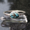 Turquoise Sterling Silver Stacking Ring in Size 8 December Birthstone Handmade G