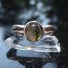 Labradorite Ring Size 6 Set in Sterling Silver with Round Labradorite Gemstone a