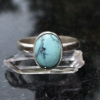 Handmade Turquoise Sterling Silver Stacking Ring in Size 7 December Birthstone H