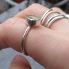 Kyanite Sterling Silver Ring Size 6 Raw Stone Crystal Blue Gemstone Stacking Rin