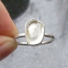 Oregon Sunstone Ring Size 7 in Sterling Silver Oregon Gift Natural Clear Gemston