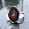 Druzy Geode Sterling Silver Statement Ring Size 8 Made with a small Tabasco Geod