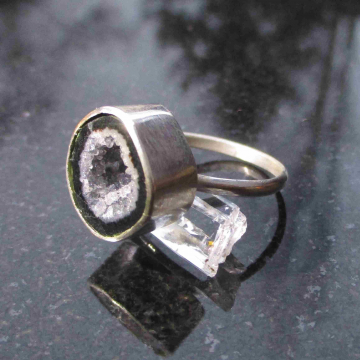 Raw Opal Stud Earrings in Sterling Silver Small 5mm Stone October Birthstone Min