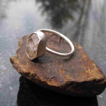 Raw Blue Apatite Sterling Silver Crystal Stud Earrings Small 5mm Stone Minimalis