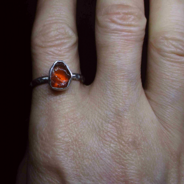 Raw Spinel Stud Earrings in Sterling Silver Minimalist Pink Small Stone Crystal