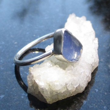 Oregon Blue Opal Silver Ring Size 6 October Birthstone Natural Crystal Raw Stone Jewelry Oregon Gift