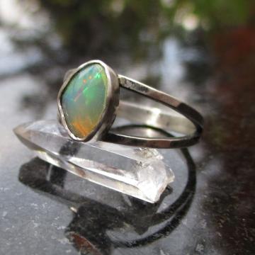 Raw Amethyst Earrings Studs Set in 925 Sterling Silver February Birthstone Small 4mm Stone