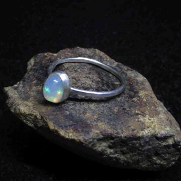 Raw Ruby Ring Size 6 Handmade Sterling Silver Crystal Stacking Ring July Birthstone Jewelry