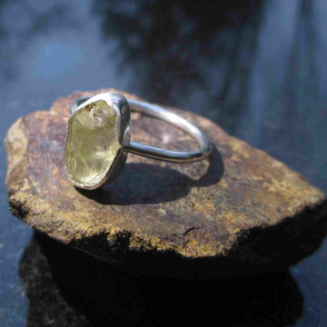 Raw Ruby Necklace in 925 Sterling Silver July Birthstone Red Crystal Gemstone Pendant