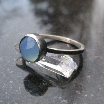 Raw Blue Apatite Crystal Titanium Earrings Studs Aqua Blue Gemstone Rough Stone
