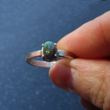 Raw Opal Silver Necklace with Natural Real Mexican Fire Opal Crystal Jewelry for Women