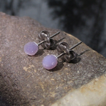 Raw Amethyst Ring Size 9 Sterling Silver Rough Stone Crystal Stacking Ring with Purple Gemstone February Birthstone Jewelry