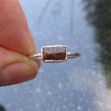 Oregon Red Opal Stud Earrings in Sterling Silver Small Tiny Dainty Minimalist Jewelry October Birthstone gemstone Studs
