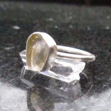 Oregon Sunstone Ring Size 7 in Sterling Silver Oregon Gift Natural Clear Gemstone with Schiller